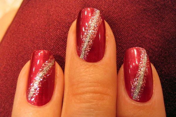 Обычные узоры на ногтях фото