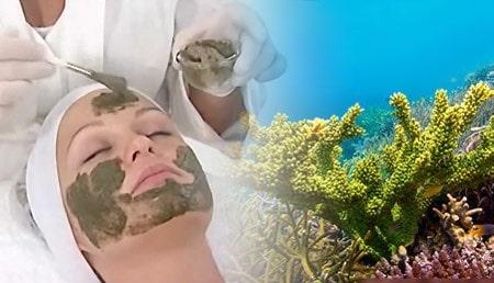 для пилинга используется коралловая крошка