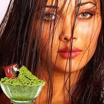 Сухая хна должна быть зеленоватого цвета