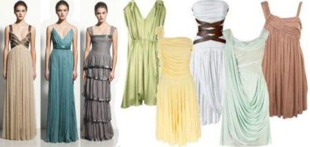 Разновидности греческого платья, которые сохранили основный его элемент – драпировки
