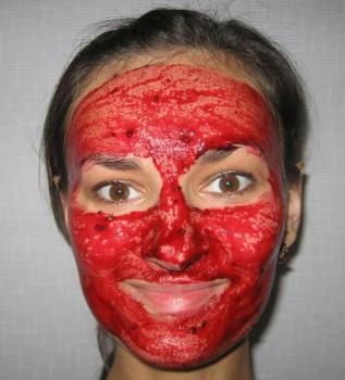 маска для лица из красной смородины