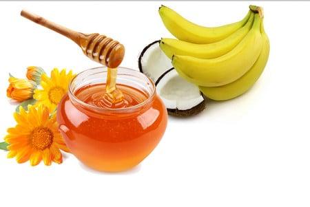 маска из банана и меда