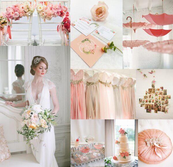 Бело-персиковая свадьба