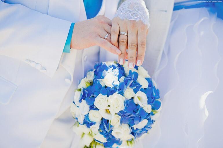 Значение голубого цвета на свадьбе