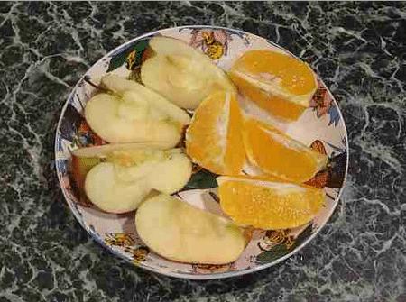 Примерно так должен выглядеть фруктовый ужин