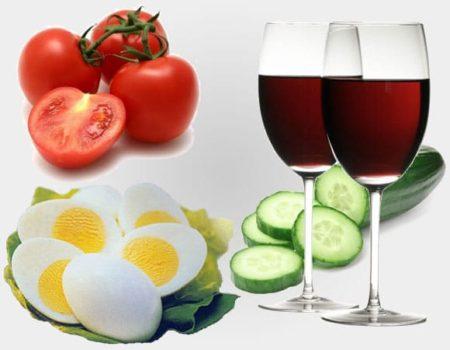 основные ингредиенты диеты