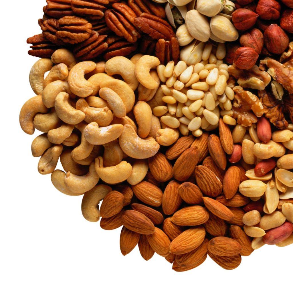 орехи в рационе питания