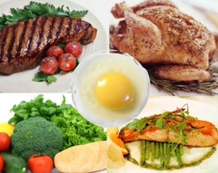 Овощи, фрукты, мясо и яйца